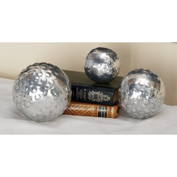 Silver Orchid Olivia (Set of 3) Decor Ball In Silver Finish