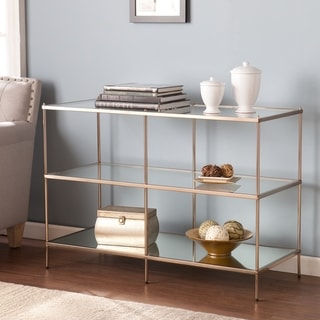 Silver Orchid Grant Glam Gold Metal Console Table