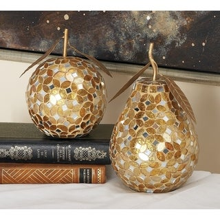 Link to Silver Orchid Balfour Mosaic Metal Pear and Apple Figurine Set 6-inch x 8-inch (Set of 2) Similar Items in Accent Pieces