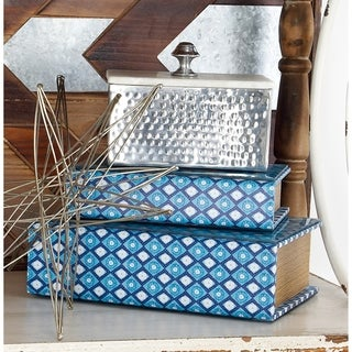Link to Silver Orchid Olivia Rustic Reflections Aluminum and Marble Box Similar Items in Accent Pieces
