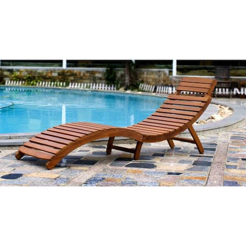 Havenside Home Shi Shi Curved Folding Chaise Lounger