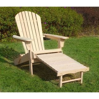 Havenside Home South Padre Adirondack Chair Kit with Pullout Ottoman