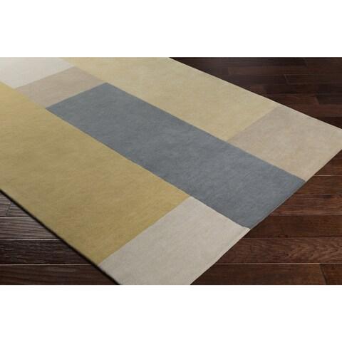 Carson Carrington Nadendal Color block Hand-Tufted Wool Area Rug