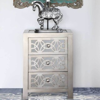 Silver Orchid Grant Mirrored 3-drawer Cabinet