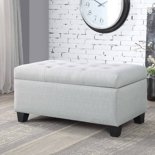 Brilliant Shop Carey Contemporary 36 Inch Button Tufted Storage Bench Pdpeps Interior Chair Design Pdpepsorg