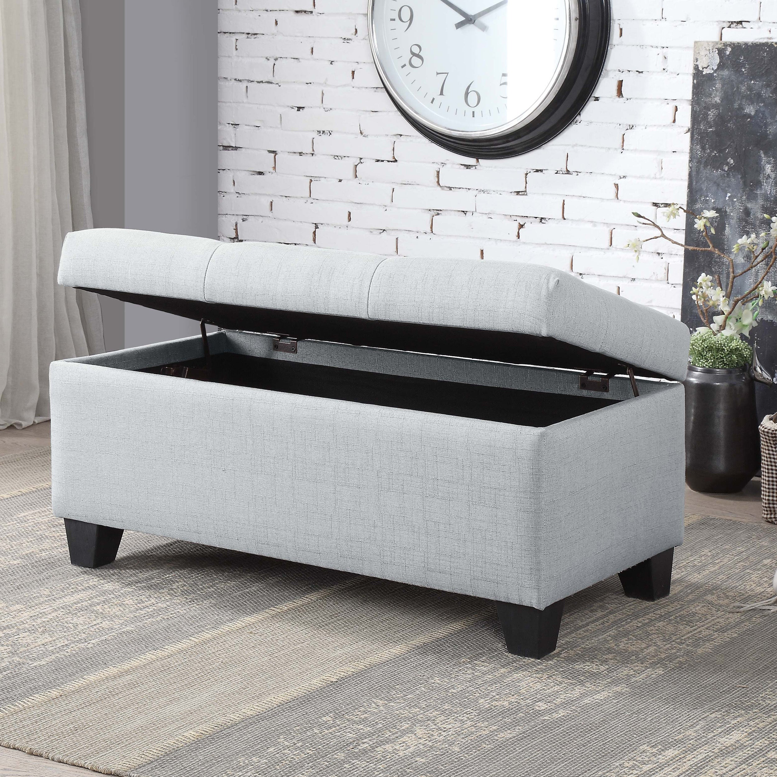Astonishing Carey Contemporary 36 Inch Button Tufted Storage Bench By Foa Pdpeps Interior Chair Design Pdpepsorg