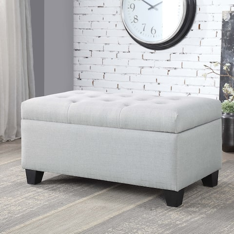 Carey Contemporary 36-inch Button Tufted Storage Bench by FOA
