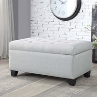 Furniture of America Carey Contemporary Button Tufted 36-inch Storage Bench