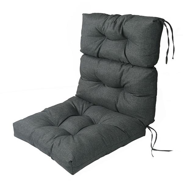 Lnc Indoor Outdoor Lounge Chair Cushions Patio High Back Cushion Grey N A