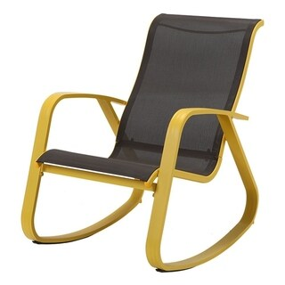 Glider Rocking Swing Chair for Indoor Lawn with Steel Frame