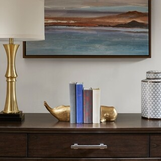 Madison Park Signature Polyresin Gold Whale Bookends