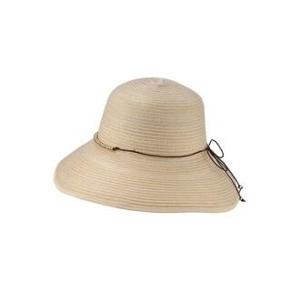 Access Headwear Women's Sun Styles Beth Ladies Braided Cloche Adjustable Foldable Beach Hat Sun Hats (14 Colors Available)