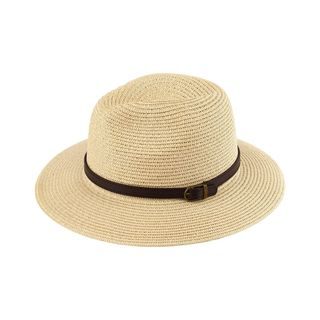 Zodaca Women's Sun Styles Marla Ladies Fedora Style Sun Hat Adjustable Foldable Beach Hat (12 Colors Available)