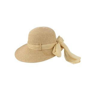 Access Headwear Women's Sun Styles Gladis Ladies Foldable Large Brim Beach Sun Hat with Large Accent Bow (7 Colors Available)