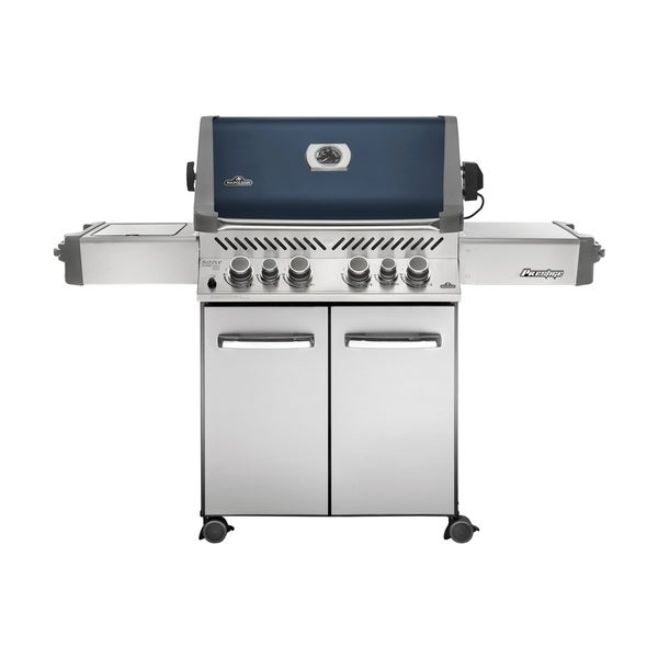 Prestige® 500 with Infrared Side and Rear Burners Propane Gas Grill in Blue