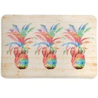 Laural Home Watercolor Pineapple Memory Foam Mat