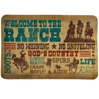 Laural Home Rodeo Words Memory Foam Bath Mat