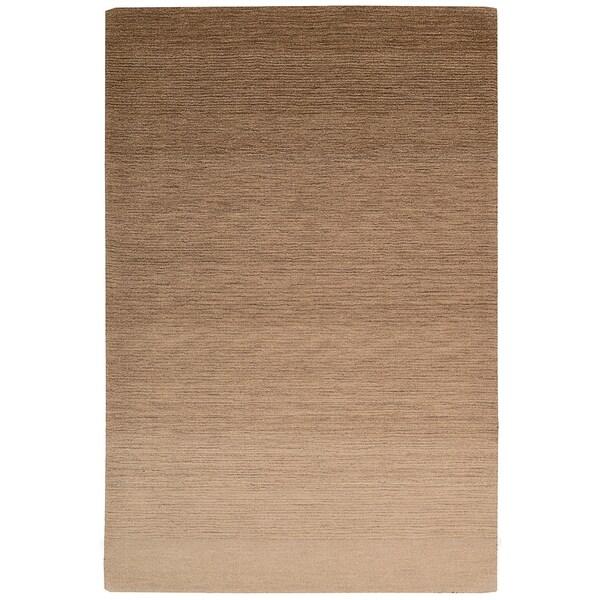 "Calvin Klein Haze Sandstone Tan Area Rug by Nourison - 5'3"" x 7'5"""