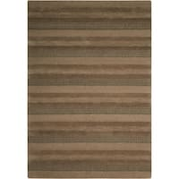 "Calvin Klein Sequoia ""Boucle Stripe"" Woodland Area Rug by Nourison - 5'3"" x 7'5"""