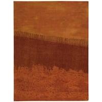 "Calvin Klein Luster Wash ""Fringe Ikat"" Autumn Area Rug by Nourison - 5'6 x 8'"