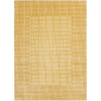 "Calvin Klein New Patina Gold Area Rug by Nourison - 5'6"" x 7'5"""