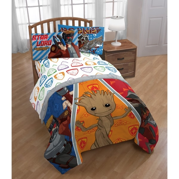 Shop Marvel Guardians Of The Galaxy 4 Piece Twin Bed In A Bag Free