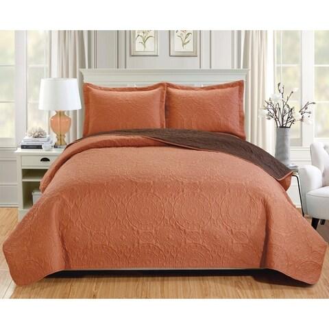 RT Designers Collection Lexington 3-Piece Reversible Quilt Set