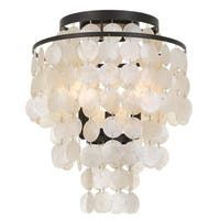 elight DESIGN Coastal 3-light Bronze/Capiz Shell Flush Mount