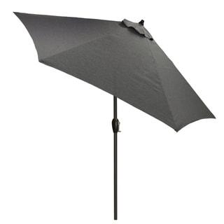 9' Round Patio Umbrella with Black Pole