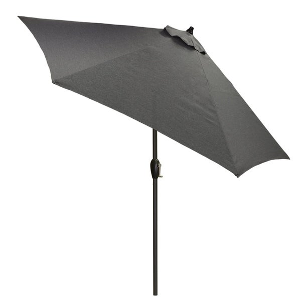 9u0026#x27; Round Patio Umbrella With Black Pole