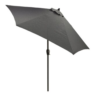 9' Round Patio Umbrella with Black Pole
