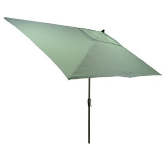 6.5x10u0027 Rectangular Patio Umbrella With Black Pole