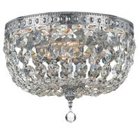 elight DESIGN Traditional 2-light Chrome/Crystal Flush Mount