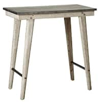 Distressed Galvanized Top Side Table.