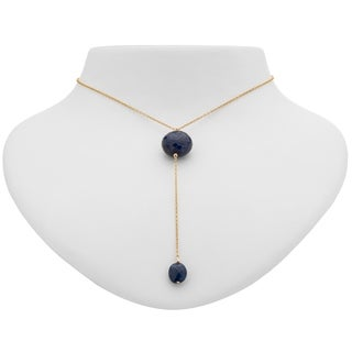 Tara Mesa Gold Filled Sapphire Y Necklace