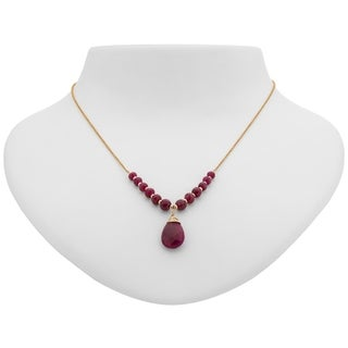 Tara Mesa Gold Filled Ruby Wire Wrapped Necklace
