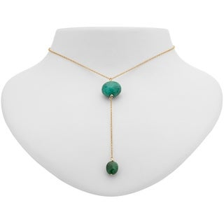 Tara Mesa Gold Filled Emerald Y Necklace