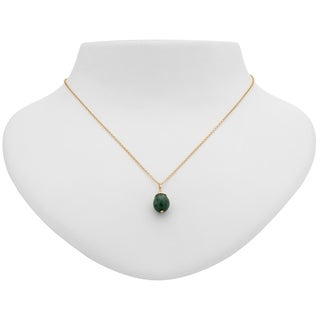 Tara Mesa Gold Filled Emerald Wire Wrapped Necklace