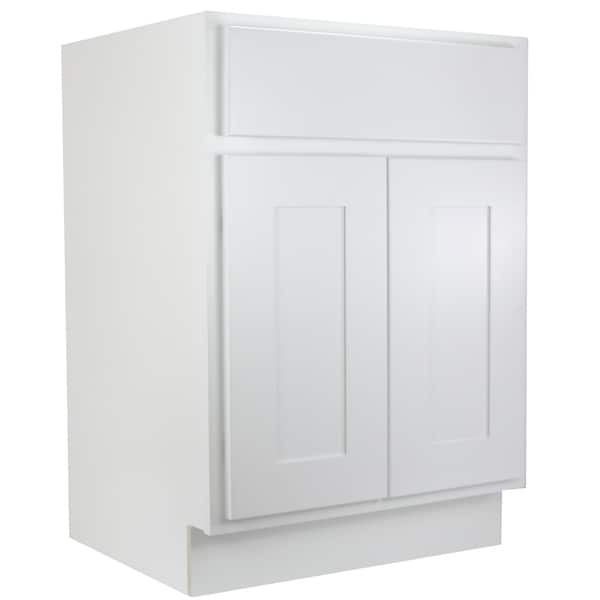 Cabinet Mania White Shaker Kitchen Bathroom Vanity Sink Base 30 W X 21
