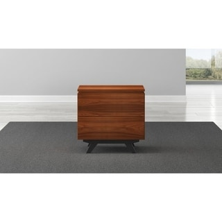 "24"" Mid-Century Modern End Table in Iron Wood"