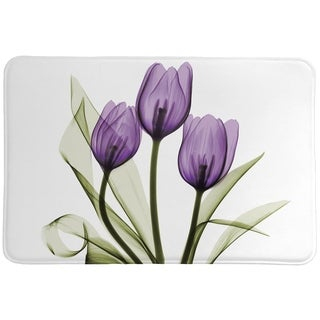 Laural Home X-Ray Lavender Floral Memory Foam Mat