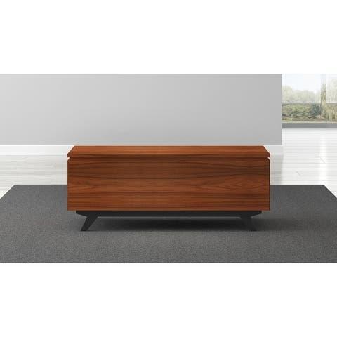 "48"" Mid-Century Modern Coffee Table in Iron Wood"