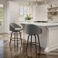 Amisco Minto Swivel Stool with upholstered seat