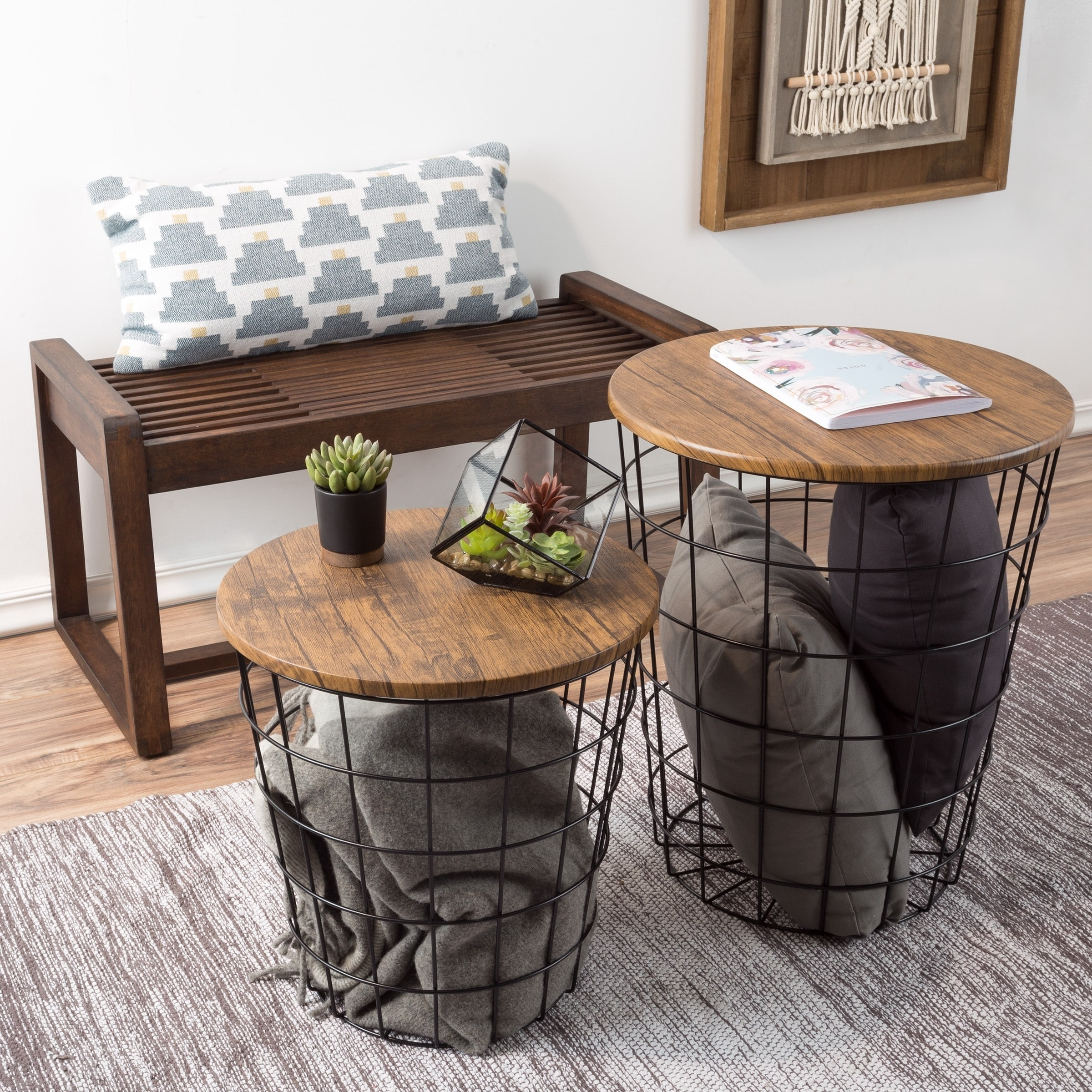 Coffee And End Table Sets With Storage 11