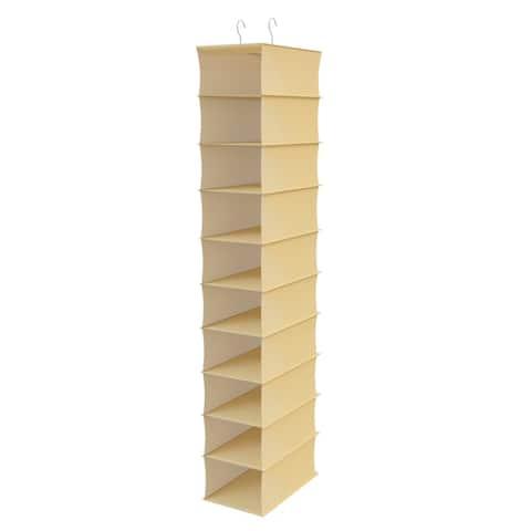 Hanging Shoe Organizer- 10 Shelf Vertical Closet Storage for Heels, Flats, Sneakers-Space Saving by Lavish Home