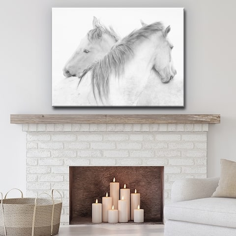 Horses' Farmhouse Wrapped Canvas Wall Art