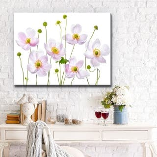 Japanese Anemones' Floral Wrapped Canvas Wall Art