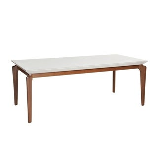 Payson 72.04 In. Modern Rectangular Glass Top Wood Leg Dining Table