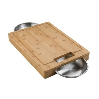 PRO Cutting Board with Stainless Steel Bowls