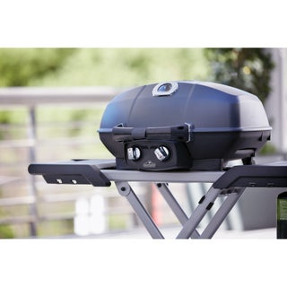 TravelQ PRO285 Portable Gas Grill with Scissor Cart